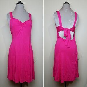 Hot Pink ASOS Backless Keyhole Tie Mini Dress NWOT